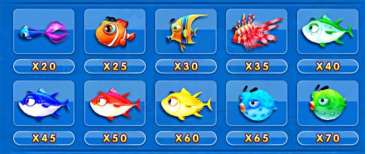 ปลาราคาปานกลาง เกมยิงปลา จ้าวมหาสมุทร