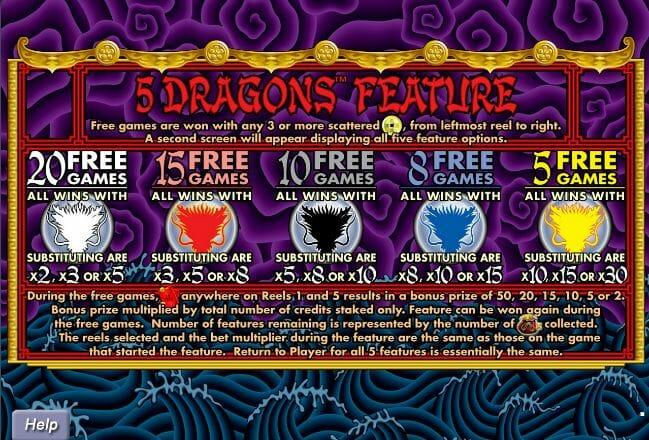 5 Dragon Free Spin
